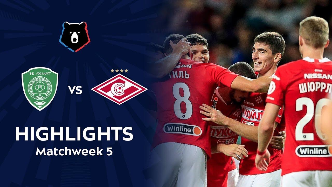 Highlights Akhmat vs Spartak (1-3)   RPL 2019/20