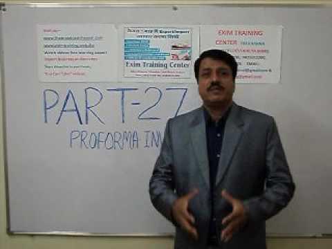 Export Import Training Part 27 Proforma Invoice