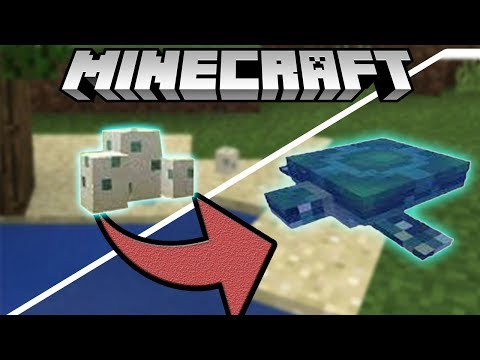 ✔How to Hatch A Turtle Egg - Minecraft 1.3 Update
