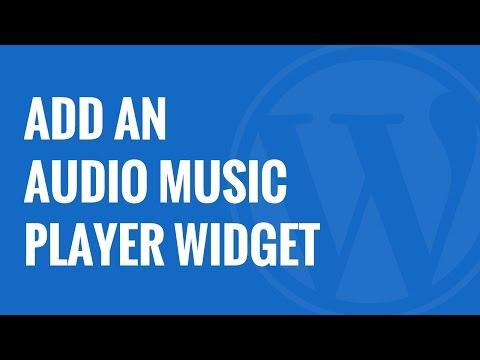 How to Add an Audio Music Player Widget in WordPress