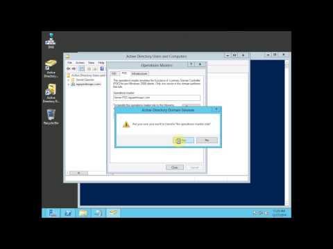 Windows Server 2012 Transferring operations master roles