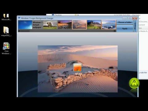 Change Windows 7 Logon Screen