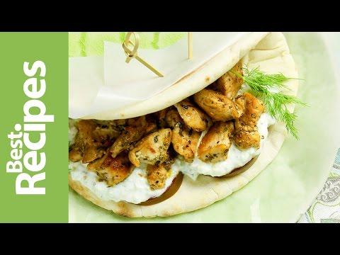 Lemon Chicken Pita Wraps - Best Recipes with Drew Maresco