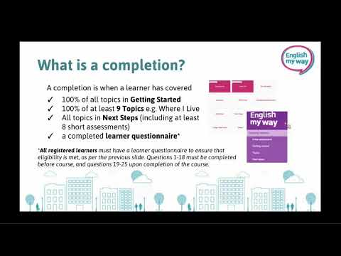 English My Way Delivery Requirements Webinar 18/19