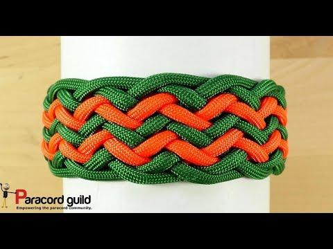 Pineapple knot paracord bracelet- double row