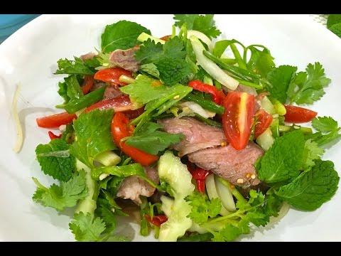 Thai beef salad (Yam Neua Yang) ยำเนื้อย่าง
