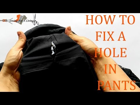 How to fix a hole in pants