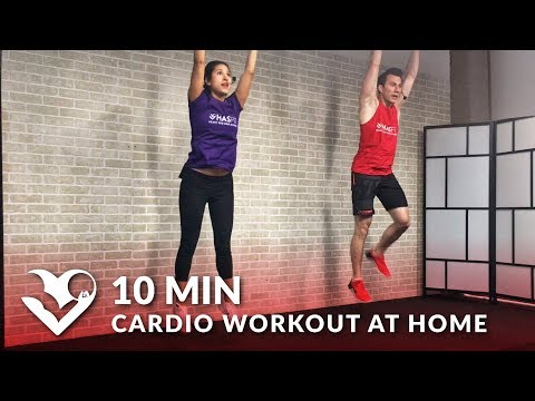 10 Minute Cardio Workout at Home for Men & Women without Equipment - 10 Min Cardio HIIT No Equipment