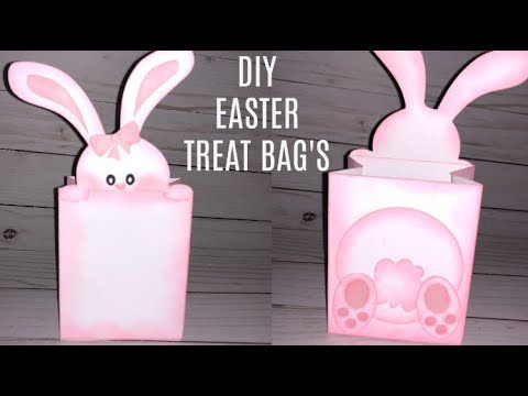 Easter Bunny Treat Bag Tutorial