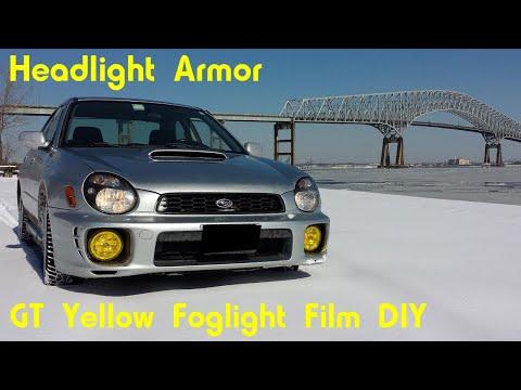 GT Yellow Fog Light Tint Protection Film Kit DIY - Headlight Armor  - Subaru Impreza WRX