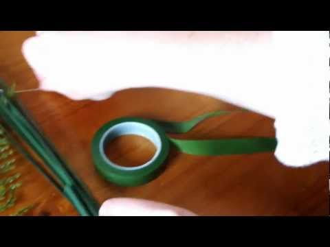 how to make a simple foam rose wedding buttonhole/ivory.