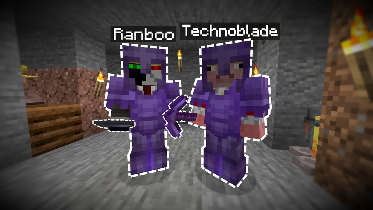 Technoblade and Ranboo being a chaotic duo for 10 minutes straight