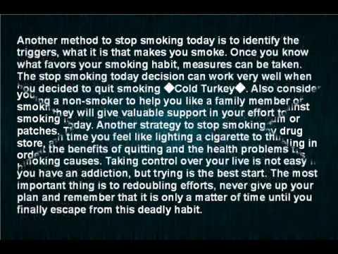 The best methods to stop smoking today