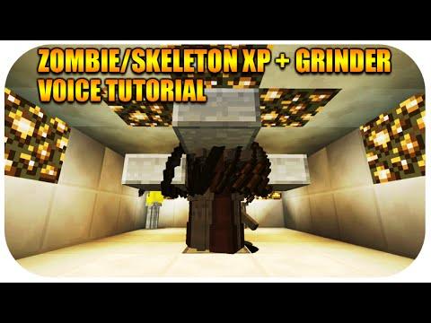 Minecraft Xbox & Playstation Skeleton + Zombie XP Farm Grinder Survival Mode Best Guide Voice Tut
