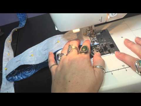 make an adjustable self-tie bow tie part 2