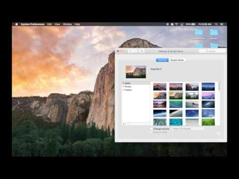 How to change wallpaper on Macbook
