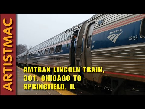 Amtrak Lincoln Passenger Train 301, Chicago to Springfield, IL