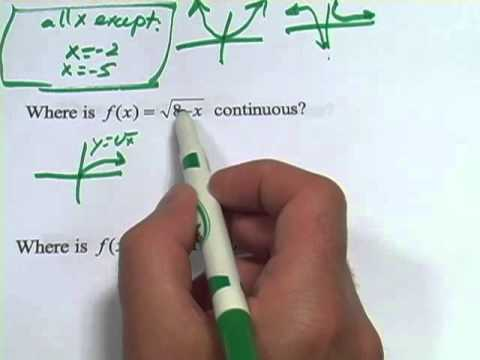 Finding Intervals Where Functions Are Continuous