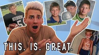 REACTING TO MY UGLY CHILDHOOD PHOTOS! (HUGE Announcement)