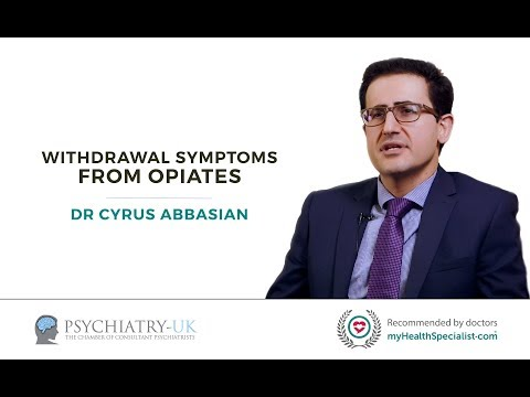 What are the withdrawal symptoms from opiates and how are they managed?
