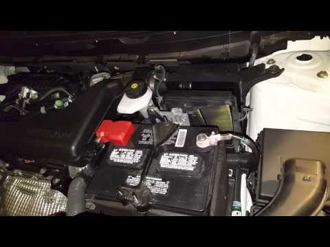 How to change air filter for Nissan Rogue 2015
