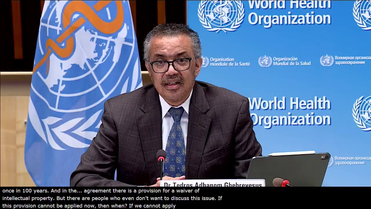 Media briefing on COVID-19 with Dr Tedros