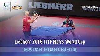 Vladimir Samsonov vs Hugo Calderano I 2018 ITTF Men's World Cup Highlights (Group)
