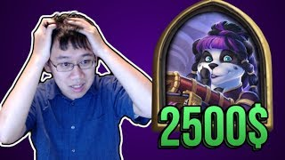 THIS HEIST BOSS LOST ME 2500$ !! | Rise of Shadows | Hearthstone