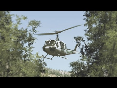 DCS World 2.0 - Forestry Operations With The UH-1H