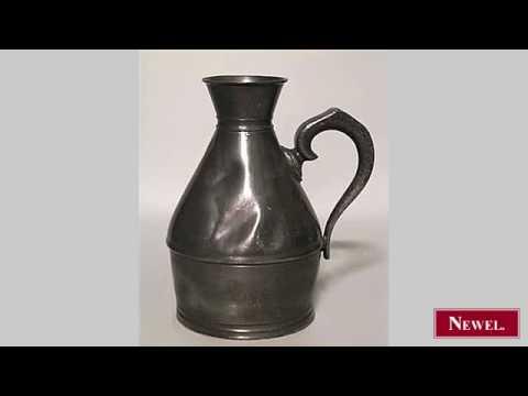 Antique English Renaissance style pewter tankard (measure