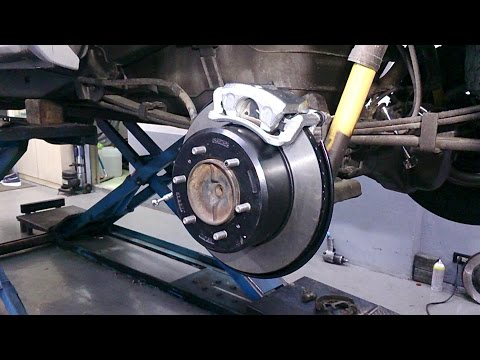 Toyota Tacoma UPI rear drum to disc conversion kit installation guide