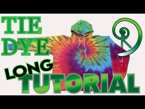Rainbow Hoodie Spiral Tie Dye [Long Tutorial] #70