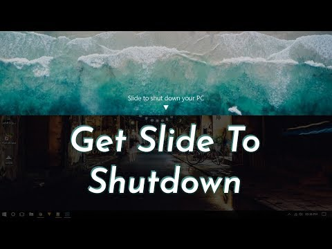 How To Get Slide To Shutdown On Windows 10 Desktop