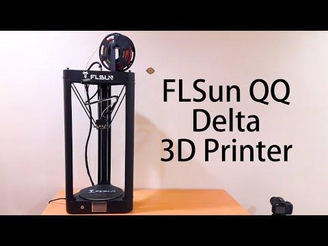 FLSUN QQ Delta 3D Printer-Unboxing and Assembly