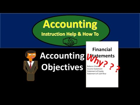 101 Accounting Objectives - Relevance Reliability Comparability