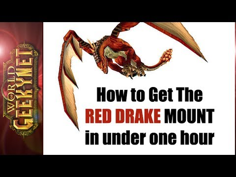 How to Get The Red Drake Mount, in Under 1 Hour