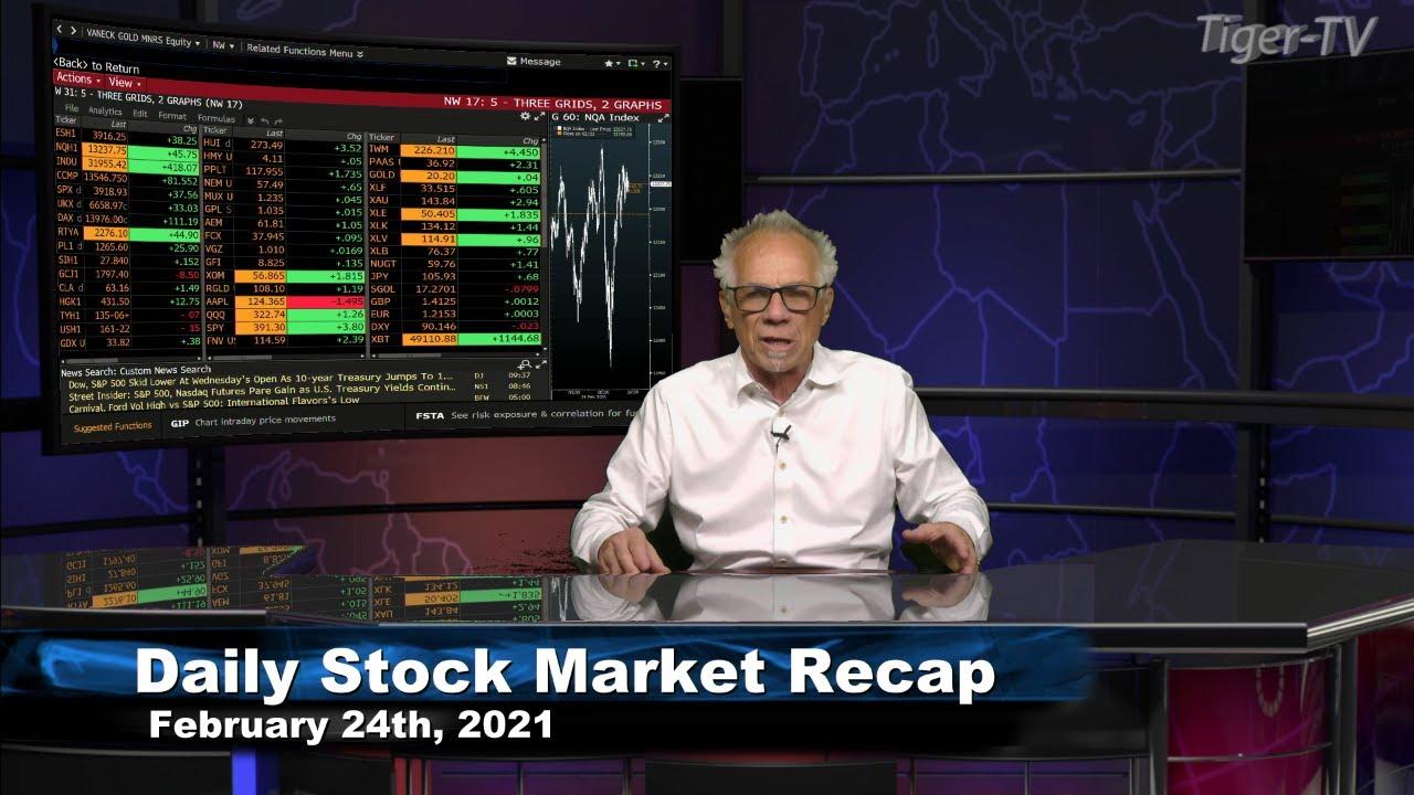 February 24th, Daily Stock Market Recap with Tom O'Brien - 2021