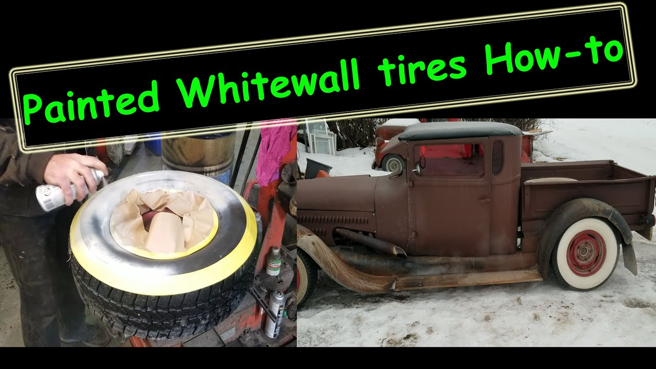 How I paint Whitewalls on used tires