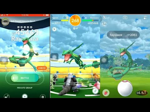 World's First Rayquaza Raid   How To Catch Rayquaza In Pokemon Go!