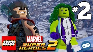 Lego Marvel Super heroes 2 Thor, Captain America, She Hulk