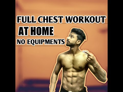 Home Chest Exercises UPPER, MID, LOWER CHEST!!