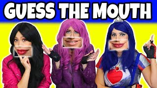 Guess the Descendants Mouth with Mal, Evie and Lonnie Characters (Are they Real or Fake?)