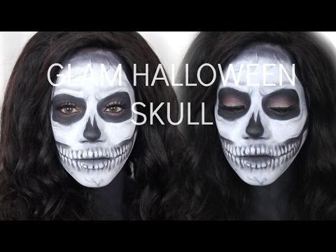 CREEPY AND CUTE HALLOWEEN SKULL MAKEUP | FOR DARK SKIN