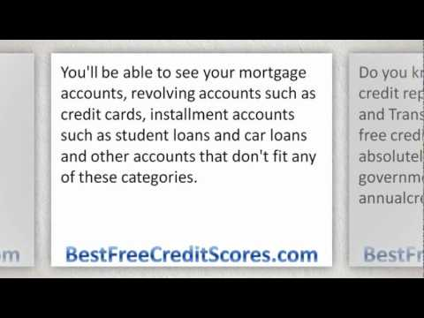 Pull up free credit report from Experian, Equifax and Transunion