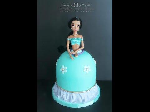 Princess Jasmine Doll Cake