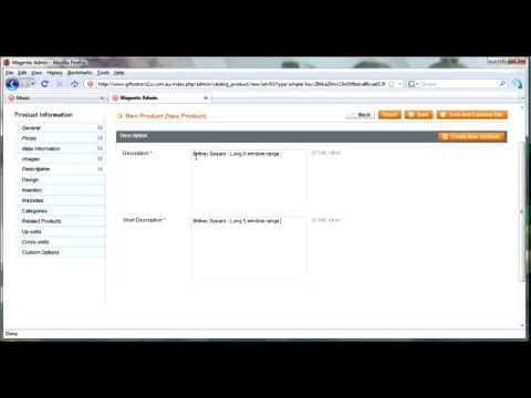 Magento  Adding, Deleting and Managing Products   Tutorial