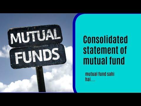 consolidated statement of mutual fund-म्यूच्यूअल फण्ड का स्टेटमेंट कैसे निकाले