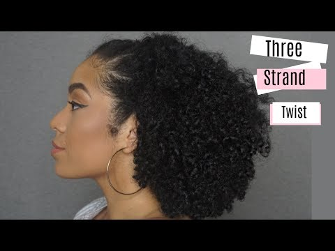 How To: Simple 3 Strand Twist Out + More Styles! | Ft. LA Naturals