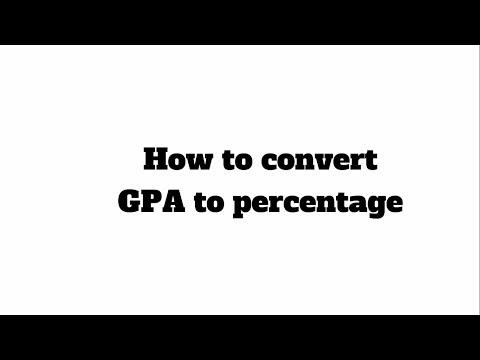 How to Convert GPA/CGPA into Percentage | HD