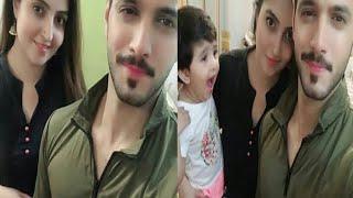 Wahaj ali with her beautiful wife and daughter